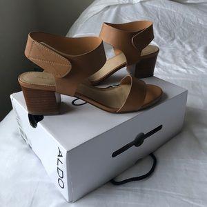 Short brown heels